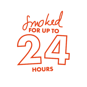 Smoked for up to 24 hours
