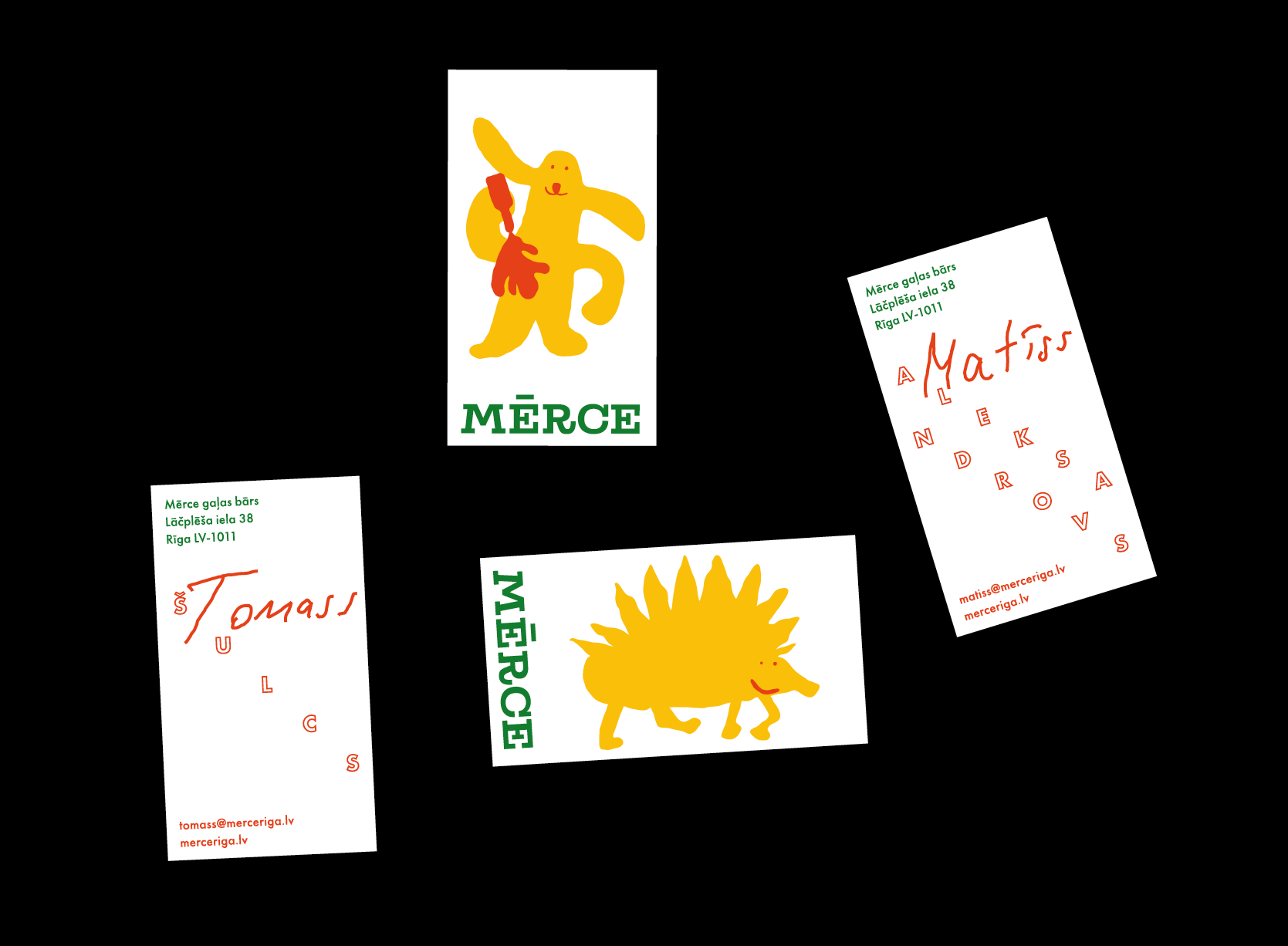 Business cards example.