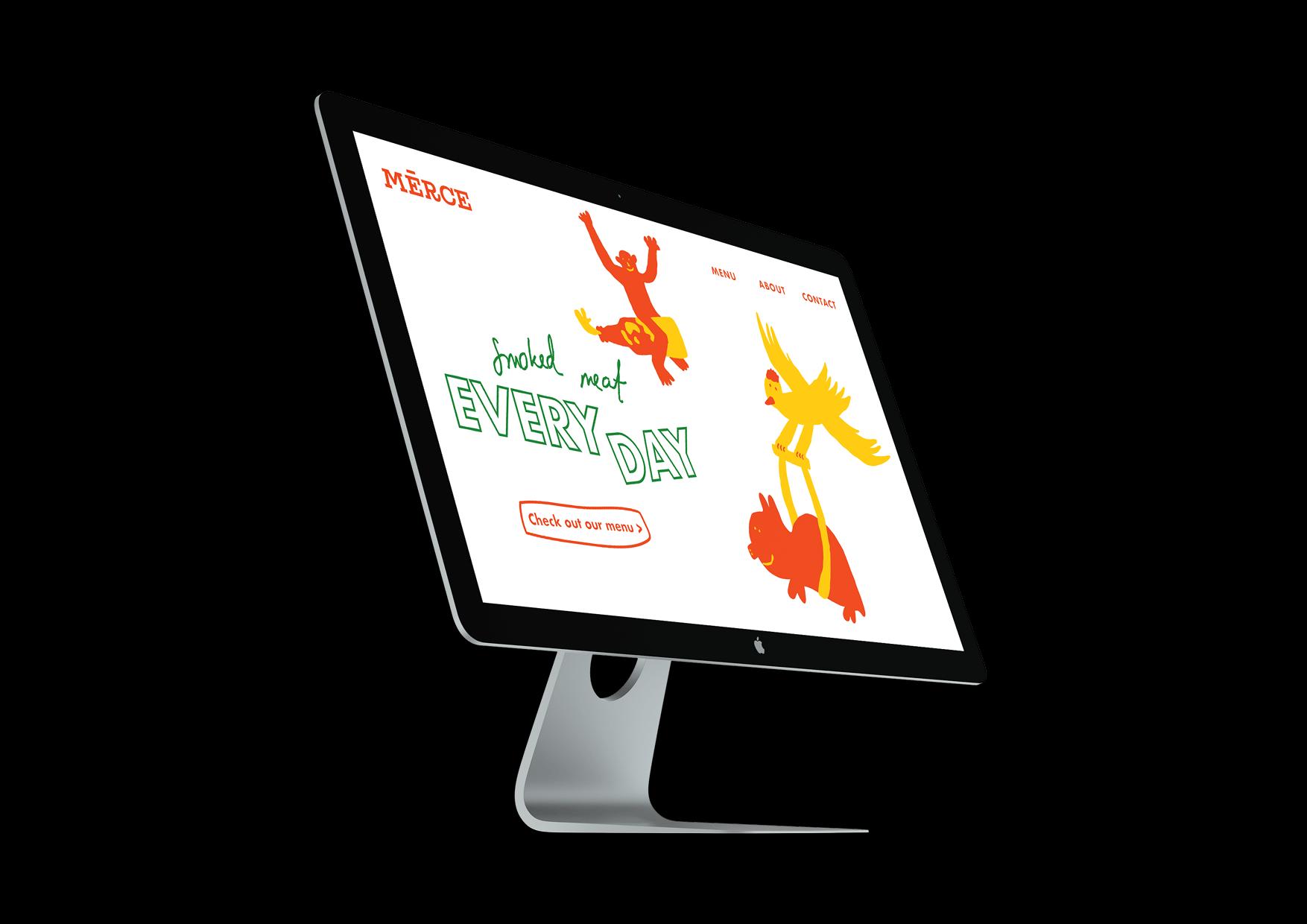Website on desktop.